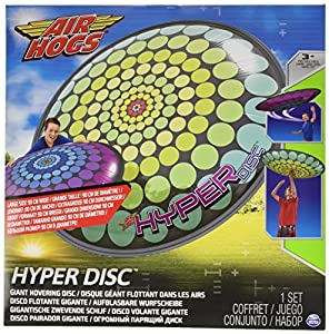 Amigo Spiel + Freizeit Spinmaster 6024920 - Air Hogs Hyper Disco Volante Inflable, Puntos Hoocks OVNI en Espiral