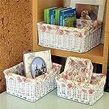 SHOUNALAIN Willow Sweet Rose Flora Weissen Korbmöbeln Aufbewahrungskörbe Dekorative Weidenkörbe Home Spielwaren Essen Trinken Verschiedenes Warenkorb Braune