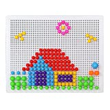 Urbanese Mushroom Nails Pegboard Children's Educational Bricks