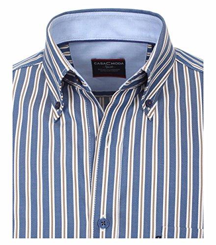 b4e419ea9e2af5 Casa Moda Comfort Fit Herren Dobby Hemd gestreift mit ButtonDown Kragen in  verschiedenen Farben 472644300 Blau 100