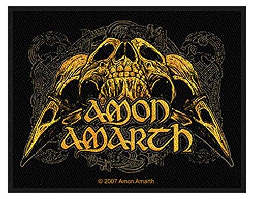 Amon Amarth - Raven Skull - Toppa/Patch - SPEDIZIONE GRATUITA
