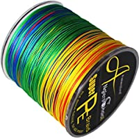 gaining fishing 8-Fach Geflochtene Angelschnur 300 m (327 Yards), 0.14-0.5mm, 10-108LB, Multi-color Japan PE braided line