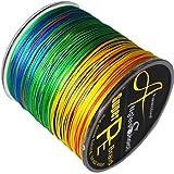 8-fach geflochtene Angelschnur 300 m Multi-color. Japan PE braided line in verschiedenen Stärken 40lbs