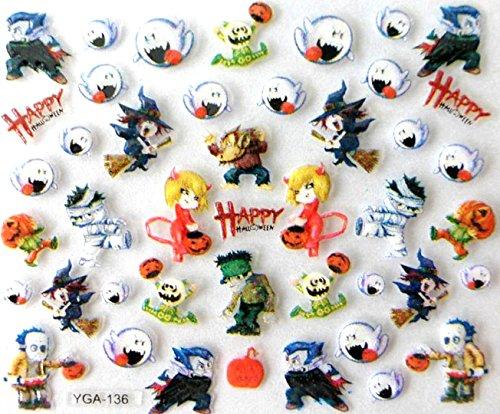 Générique Nail Art Autocollants Stickers Ongles: Décorations Happy Halloween