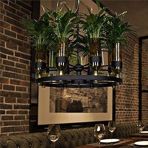 CHJK BRIHT Impianto luci pendente bar ristorante green-lampade shik cafe wine bottle impianti luci led
