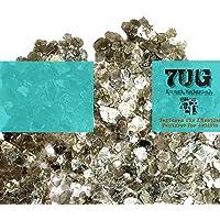7UG Glimmer/ Mica Flakes: mineralisches Effektmaterial zum Mischen mit Acrylbinder oder Gelmedium. Glänzende Texturen für Mixed Media Künstler