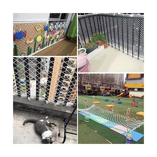 Nylon rope net, children's balcony stair safety net kindergarten decoration net isolation net playground obstacle net, railing net diameter 6mm10cm (Size : 10 * 10M(33 * 33ft))  ◆ Safety net wire diameter 6MM, mesh spacing 10CM.Color: white rope net.Our protective mesh can be customized according to your needs. ◆Protective net material: Made of nylon braided rope, hand-woven, tightened.Exquisite workmanship, solid and stable, can withstand 300kg weight impact. ◆Features of decorative net: soft material, light mesh, multi-layer warp and weft, fine wiring, fine workmanship; clear lines, non-slip durable, anti-wear. 6