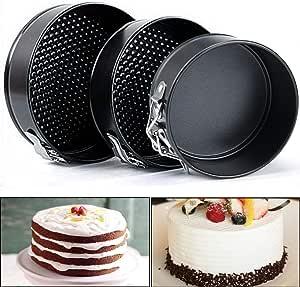 3pcs Springform Pan Set Antihaft-Kuchenform Backformen Käsekuchen Pan