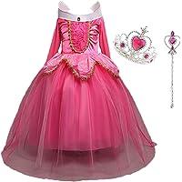 LiUiMiY Déguisement Princesse Fille, Costume Enfant Bébé Halloween Carnaval Noël Cosplay Anniversaire Fête avec Baguette…