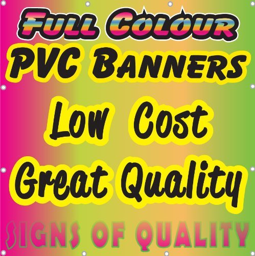 Printed Outdoor Vinyl Sign for Business Parties Birthdays PVC Banner 3ft x 6ft