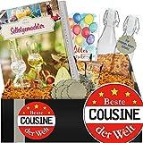 Beste Cousine | Geschenkbox Schnaps | Geschenk Cousine Idee