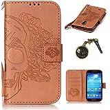 PU Coque Galaxy S4 Mini i9190 (4.3 pouces) , Multifonction Case Wallet Cover Etui en cuir Étui de protection flip Wallet stand Cover avec des fentes de cartes pour Samsung Galaxy S4 Mini i9190 (4.3 pouces) +Bouchons de poussière (2YY)