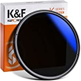 K&F CONCEPT Filtre ND Variable 58mm Densité Neutre ND2-ND400 avec Revêtement Bleu pour Objectif Appareil Photo Numérique Refl