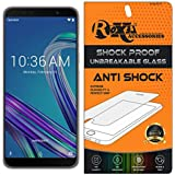 Asus Zenfone Max Pro M1 Roxel® {Buy 1 GET 1 Free} Unbreakable Anti Shock Series Tempered Glass Screen Protector For Asus Zenfone Max Pro M1 (Grey, 32 GB) (3 GB RAM)