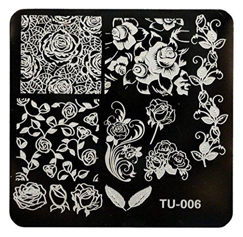 Tongshi 1 PC Mode DIY polnischen Beauty Nail Art Bildstempels Stanzen Platten 3D Nail Art Vorlagen Schablonen Maniküre Tools (6) - Platten Konad Set