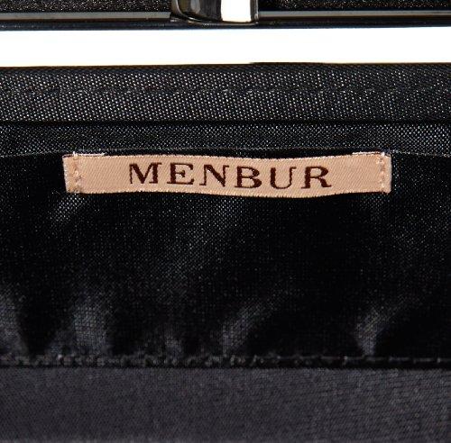 MENBUR Fannin 83366 Damen Clutches 26x13x5 cm (B x H x T) Schwarz (schwarz 01)