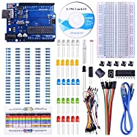 UNIROI Project Basic Starter Kit with Tutorial and Board Compatible with ArduinoIDE for Beginner (147 Items in a Plastic Box)