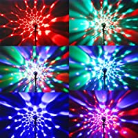 TSSS 3W B22 Disco Ball Lamp RGB Rotating LED Strobe Party Bulb Stage Light for Family Party,Birthday,Festival,Room Decoration with Remote Control from TSSS