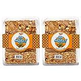 Snack Pit Gur Gulab Peanut Chikki - (800Grams)(Pack Of 2)