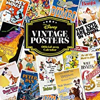 Disney Vintage Posters Official 2019 Calendar - Square Wall Calendar Format