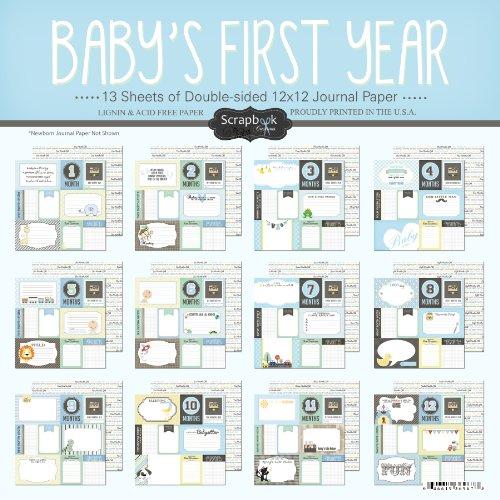 Scrapbook Customs Baby Boy ersten Monate Scrapbooking Kit -
