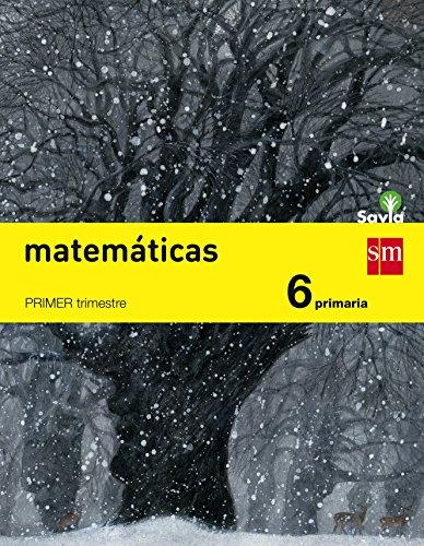Matemáticas 6 primaria trimestral savia - pack de 3 libros