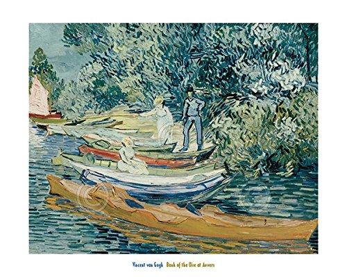 Bank of the Oise at Auvers 1890Vincent van Gogh Vintage Impressionismus Poster (wählen Sie Größe von Drucken), 48.3x33 Print (Bm Bank)