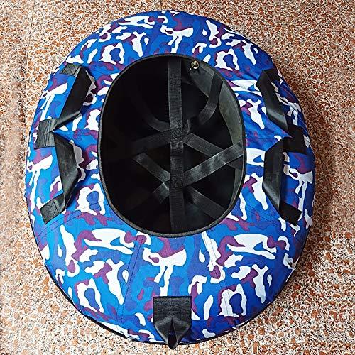 ZHAOK Rennrodel Aufblasbare Schlitten für Erwachsene, Schwerlast Aufblasbare Snow 120CM Tube mit Griffen, Kratzfest, Frostbeständig, Ideal für den Winter Outdoor-Spaß,B