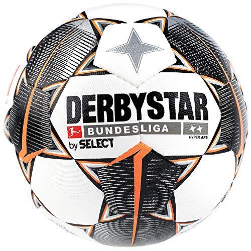 Derbystar Erwachsene Bundesliga Hyper APS Fußball, Weiss schwarz orange, 5 -