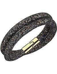 Swarovski Damen-Armband Glas schwarz 40 cm - 5152136