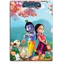 100Yellow® Krishna & Radha Exam Clipboard,Exam Board Writing Examination Pad (Wooden, 14 X 10 Inch)