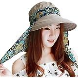Sonnenhut Damen Sonnenmütze outdoor Strandhut Staubdicht sommerhut Faltbare Hut Anti-UV Atmungsaktiv mit Reißverschluss Sonne