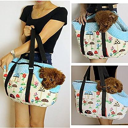 Efanr Portable Warm Pet Carrier Handbag with Zipper Small Medium Pet Dog Puppy Cat Travel Outdoor Carrier Printed Bag… 2