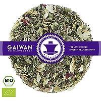 "No. 1118: Organic herbal tea loose leaf ""Wellness and Relaxation"" - 100 g (3.5 oz) - GAIWAN® GERMANY - nettle, lemon balm, licorice root, orange, thyme, lavender flowers, hibiscus, oregano, basil, hop, valerian"