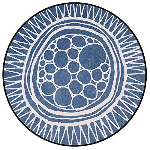 LYYDITAN zhdc® Fußmatten, einfach, runder Teppich Schlafzimmer-Türen, Nachttisch, Durchmesser: 80cm-120cm, weich und bequem, 5, 100 cm -