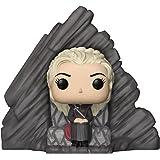 Funko- Pop Rides: Game of Daenerys On Dragonstone Throne Juego De Tronos Targaryen Figura Coleccionable de Vinilo, Multicolor