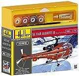 Heller 50289 - Modellbausatz Alouette III'Securite Civile' (59 piec Sécurité Civile Rapid Kit)