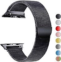 VIKATech Bracelet de Remplacement Compatible avec Apple Watch 44mm 42mm 40mm 38mm| Bracelet en Acier Inoxydable|...