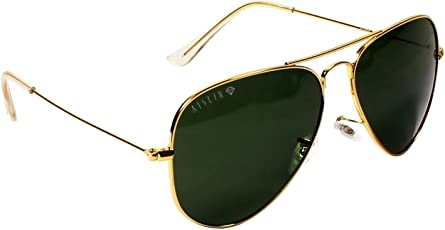 Aislin Aviator Unisex Sunglasses (AS-3025DH-2-GLD| Green)