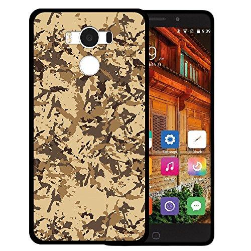 WoowCase Elephone P9000 Hülle, Handyhülle Silikon für [ Elephone P9000 ] Militärische Tarnungsbeige Handytasche Handy Cover Case Schutzhülle Flexible TPU - Schwarz