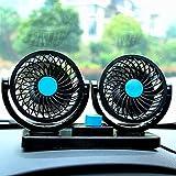 Qiman Auto Kfz Ventilator 12V 360-Grad-Drehung Lüfter starker Wind Leistung