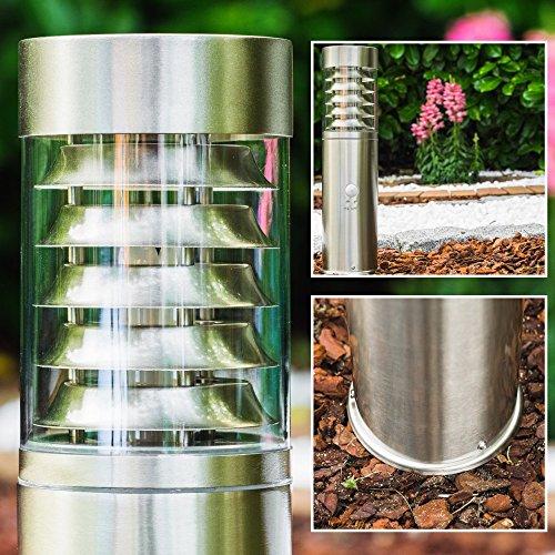 Außensockelleuchte Edelstahl mit Bewegungsmelder - Wegeleuchte für den Garten - Außen Sockelleuchte Led mit E27-Fassung im außergewöhnlichen Design
