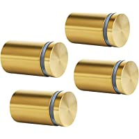 Global Indus 19 Gold Polished Sign Standoffs Nails Holders Hardware Mounts for Acrylic, Glass, PVC, Advertising (0.75…
