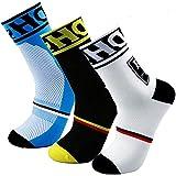 Calcetines de ciclismo para hombre HD Sports, transpirables, acolchados, para ciclismo, trekking, esquí, rastreo | alto rendi