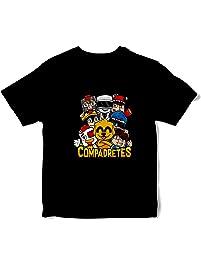 JEMASHOP Camiseta NIÑO NIÑA Negra COMPADRETES 1 (0 años ... 8b0e748361b09