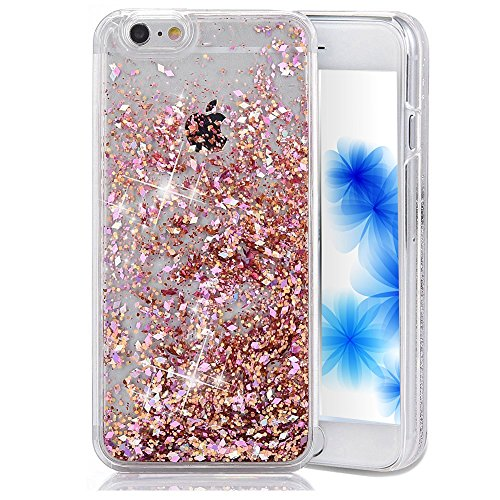 EMAXELERS iPhone 5C Coque Bling Diamnt Glitter Cristal Slim Liquied Liquid Flowing Souple PC Bumper Cas ouverture Etui pour iPhone 5C,Red Diamonds