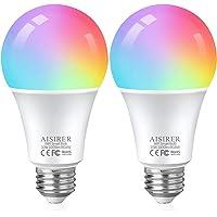 AISIRER Lampadine Alexa WiFi RGB 10W 1000 LM 90W Equivalente, Lampadina Smart E27, Dimmerabile Multicolore e Bianco…