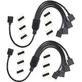 MakerStack Cable Divisor RGB de 4 Pines, Cable de conexión Hembra de 1 a 4 Puertos para Tira de Cambio de Color LED RGB con C