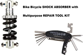 Gubbarey Mountain Bike Bicycle Electric Scooter Shock Absorber Bumper Spring Components 750Lbs/ in Rear Suspension MTB Shocks with Multi-Purpose Repair Toolkit Vehicles Two-Wheelers