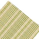 WENZHE Bambusrollo Fenster Sichtschutz Rollos Holzrollo Bambus Raffrollo Schattierung Kordelzug Kann Heben Zuhause Balkon, Bambus, 4 Farben, 17 Größen (Farbe : 4#, Größe : 50x180cm)